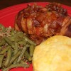 Crock Pot Bacon-Wrapped Apple BBQ Chicken
