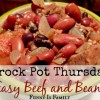 Crock Pot Easy Beef and Beans