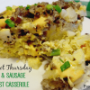 Crock Pot Bacon and Sausage Breakfast Casserole