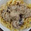 Crock Pot Beef Stroganoff Meatballs