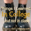 20 Things I Learned In College