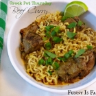 Crock Pot Beef Curry