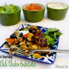 Crock Pot Green Chile Chicken Enchiladas