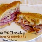 Crock Pot Reuben Sandwiches