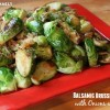 Balsamic Brussels Sprouts with Bacon and Onion