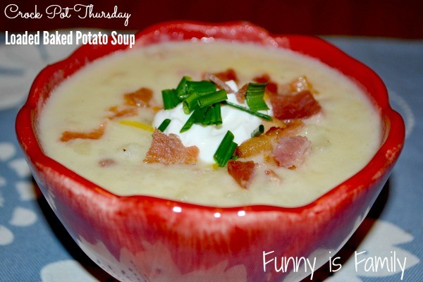 This Crockpot Loaded Baked Potato Soup is hearty, delicious, and looks beautiful when the toppings are added! It's one of my favorite crockpot soup recipes!