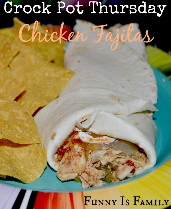 This Crockpot Chicken Fajitas recipe is just what a crockpot chicken recipe should be: simple to prepare and delicious!