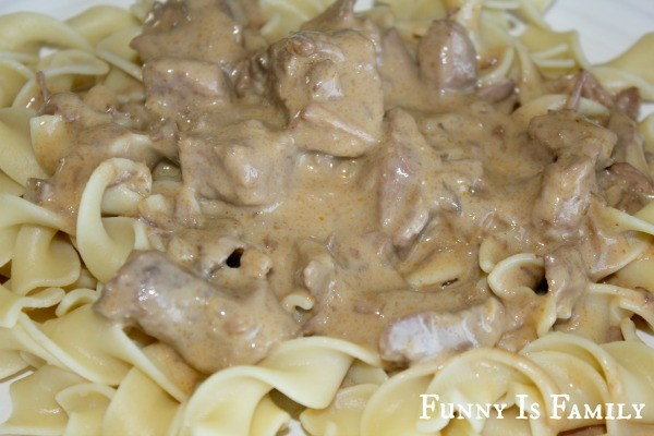This Crockpot Beef Stroganoff recipe is a quick, easy, and delicious weeknight meal! Your whole family will love this beef dinner idea!