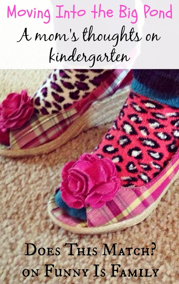 Moving Into the Big Pond: A mom's thoughts on kindergarten