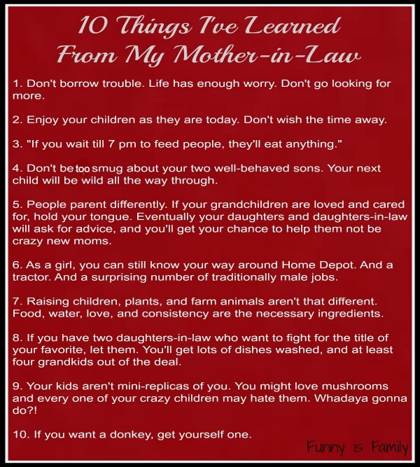 10 Things I've Learned From My Mother-in-Law