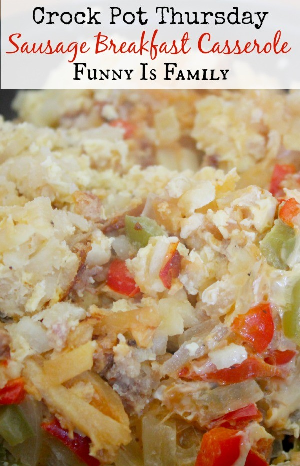With this Crockpot Sausage Breakfast Casserole recipe cooking overnight, you'll be excited to wake up in the morning!