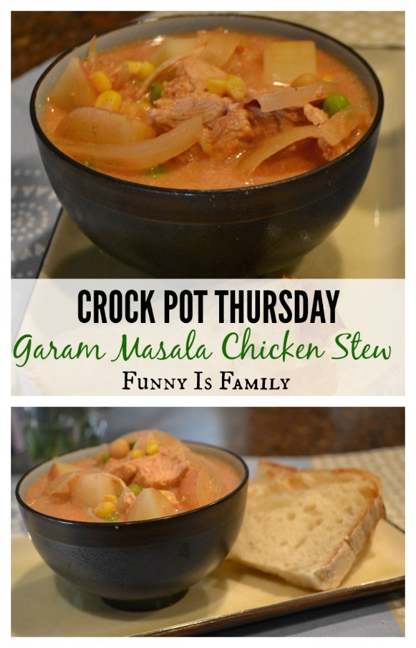 Crockpot Garam Masala Chicken Stew is a fun twist on chicken soup, and it tastes great!