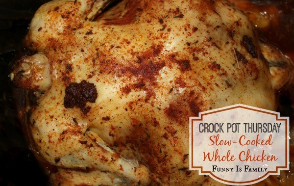This slow-cooked whole chicken from @funnyisfamily is incredible!
