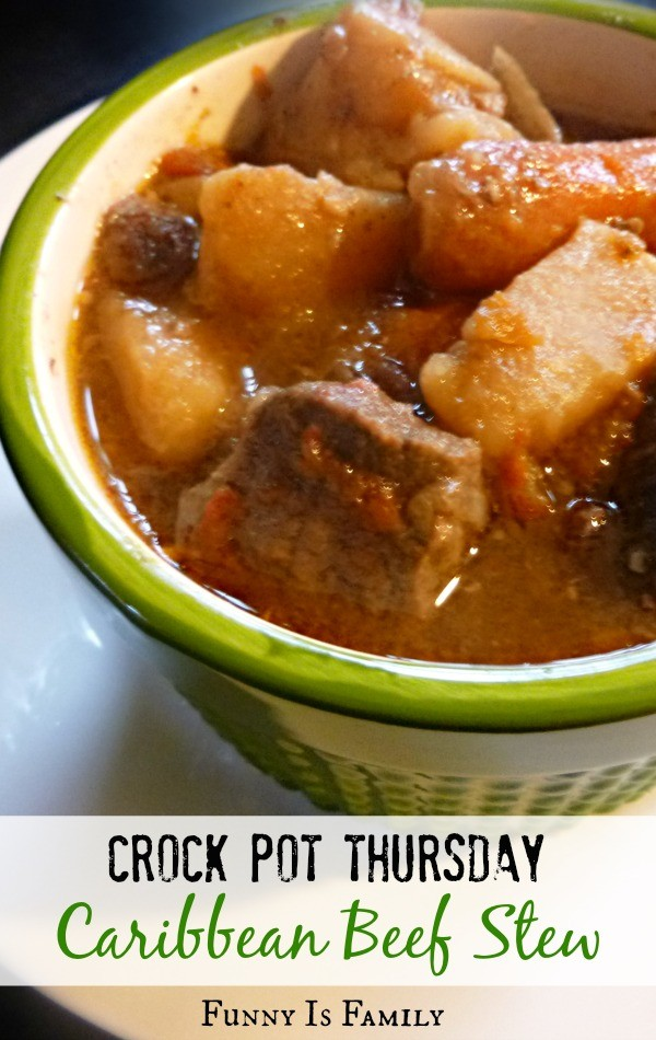 This Crockpot Caribbean Beef Stew recipe is a fun and spicy twist on traditional crockpot beef stew!