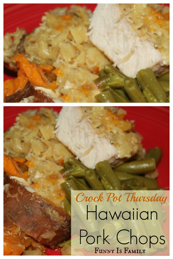These Crockpot Hawaiian Pork Chops are a quick and easy dinner idea that tastes great!