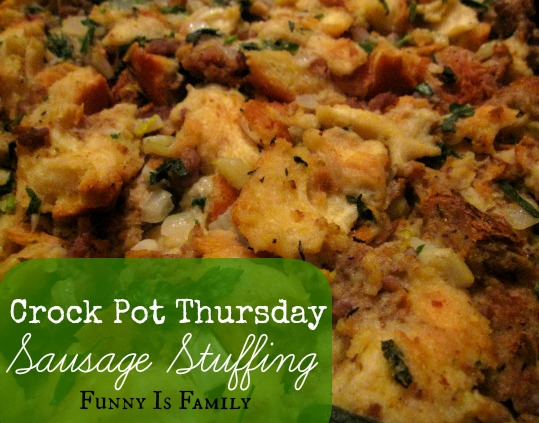 Crock Pot Sausage Stuffing that will knock your socks off!