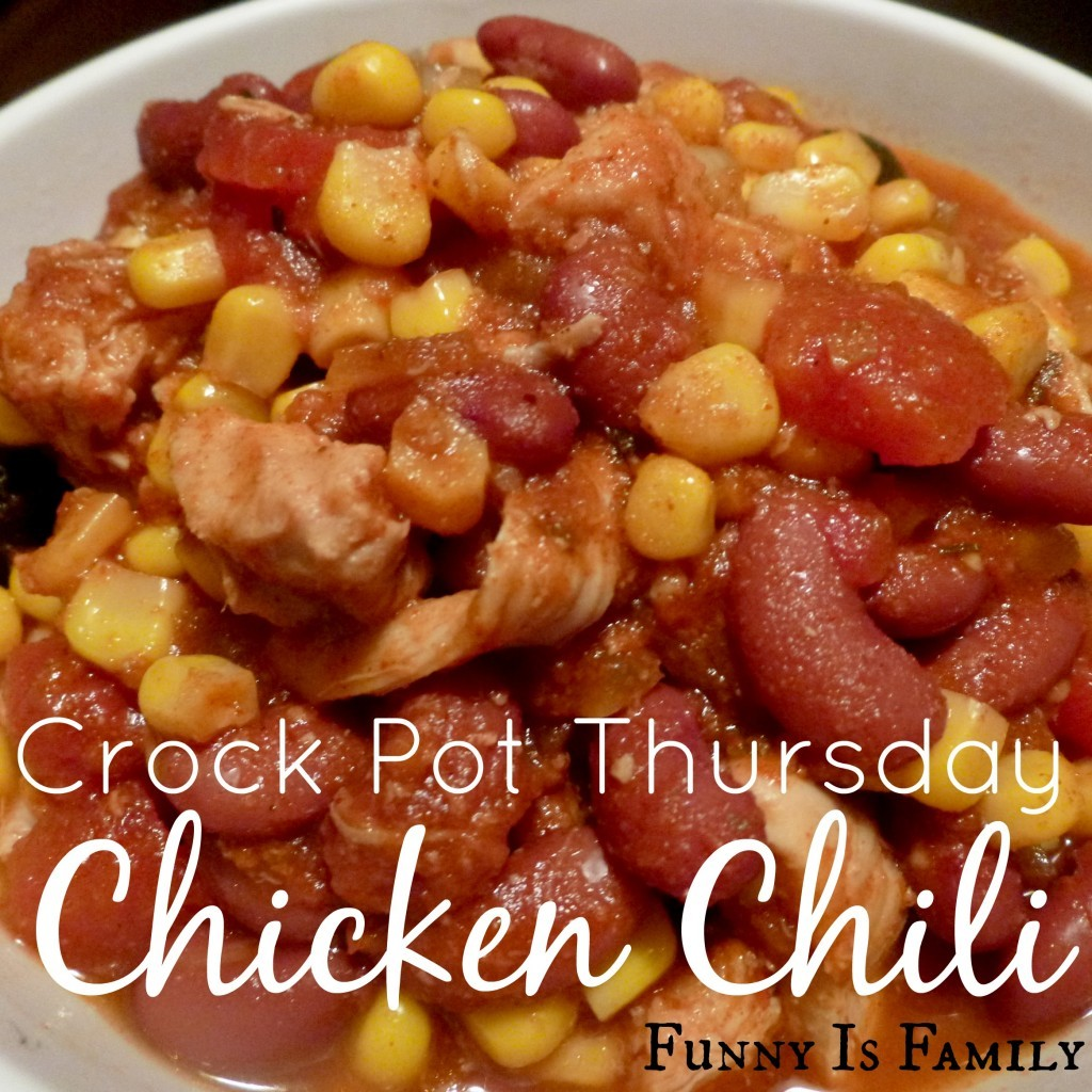 Crockpot Chicken Chili is perfect for a weeknight meal or for feeding a crowd. My family loves this easy chicken recipe!