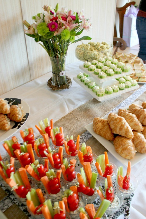 Baby shower finger food menu ideas
