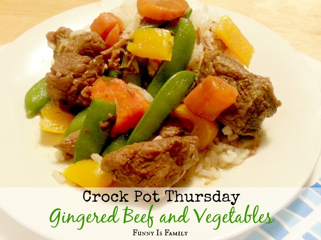 This Crockpot Gingered Beef and Vegetables is an easy and healthy weeknight dish!