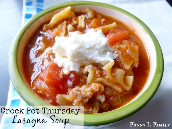 Crock Pot Thursday: Lasagna Soup