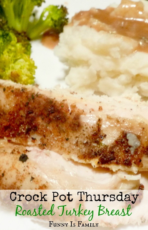 Don't wait for Thanksgiving to make this delicious Crockpot Roasted Turkey Breast! We love the rub in this recipe, and use it on our holiday turkey!