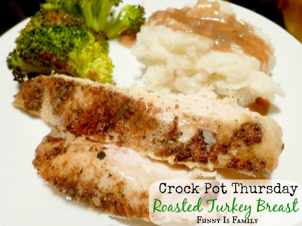 This Crockpot Roast Turkey Breast is made with the most incredible rub! Don't wait for Thanksgiving to make this quick and easy dinner. Your family will love it!