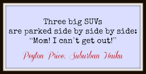 Suburban Haiku by Peyton Price on @FunnyIsFamily