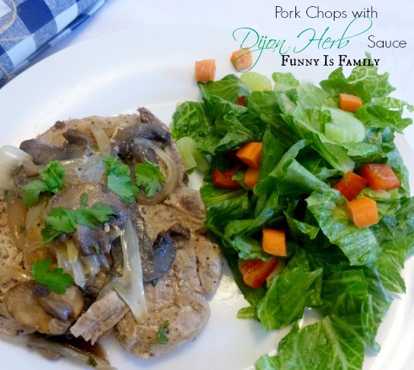 Crock Pot Pork Chops with Dijon Herb Sauce - Funny Is Family