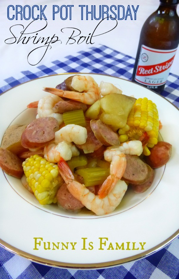 Everyone raved about this Crock Pot Shrimp Boil! | FunnyIsFamily.com |