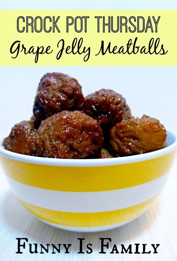 These Crockpot Grape Jelly Meatballs are simple, delicious, and the perfect party appetizer! With only a few ingredients, they are so easy!
