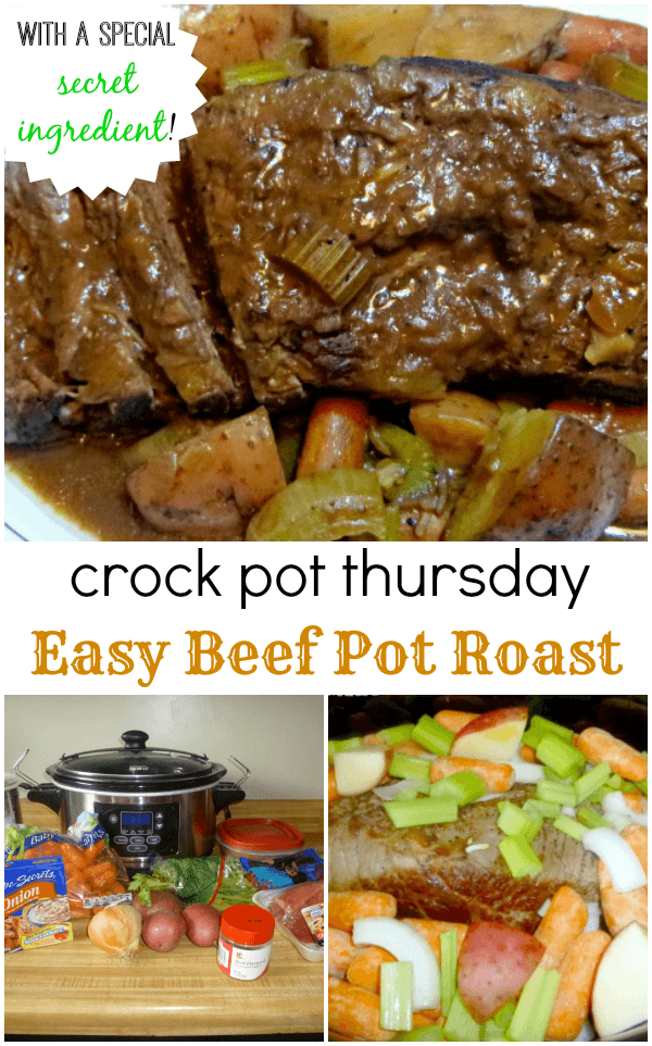 You won't believe the secret ingredient that makes this easy crockpot beef pot roast a family favorite!