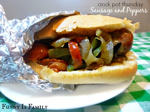Crock Pot Thursday: Sausage and Peppers