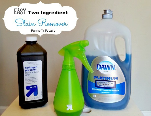 This simple homemade stain remover really works! | FunnyIsFamily.com |