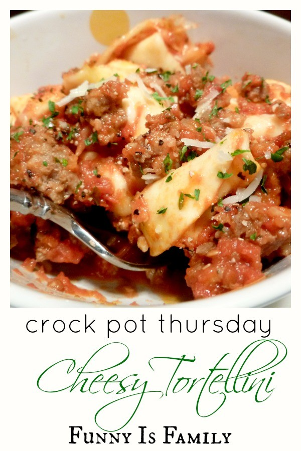 If you are looking for an easy, family-friendly dinner idea, look no further! My husband and kids went crazy for this Crockpot Cheesy Tortellini recipe!