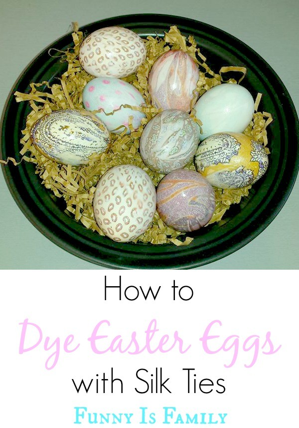 How to Decorate Easter Eggs with Silk Ties | This is an easy Easter craft that makes a great Easter decoration!