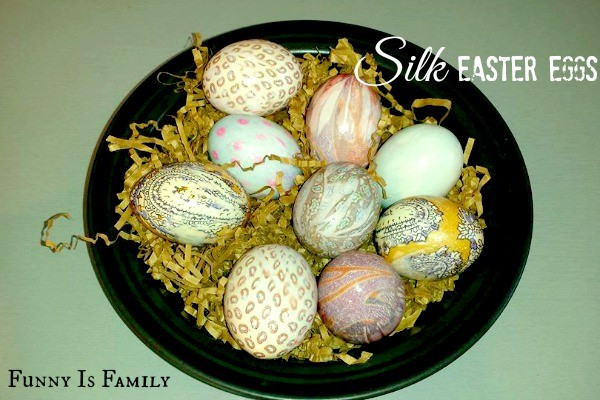 How to Decorate Easter Eggs with Silk Ties | This is an easy Easter craft that makes a great spring decoration!