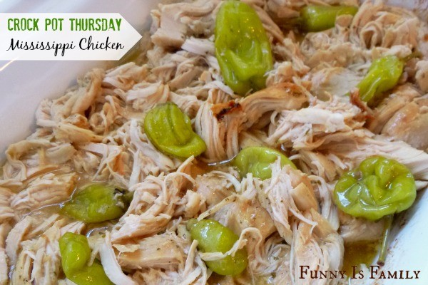 This Crockpot Mississippi Chicken recipe is a quick and easy dinner idea that has incredible flavor! Whatever you do, don't skip the pepperoncinis!