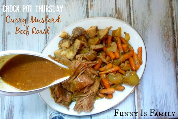 This Crockpot Curry Mustard Beef Roast recipe is a delicious twist on traditional pot roast that you're going to love! Check out this quick and easy one pot dinner idea soon!
