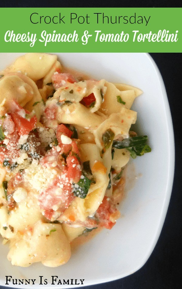 Give this Crockpot Cheesy Spinach and Tomato Tortellini recipe a try if you're looking for a simple and delicious family-friendly dinner idea! Feel free to substitute your favorite tortellini and while it's excellent with the spinach and tomato, you can jazz it up with different vegetables or even some bacon bits if you want!