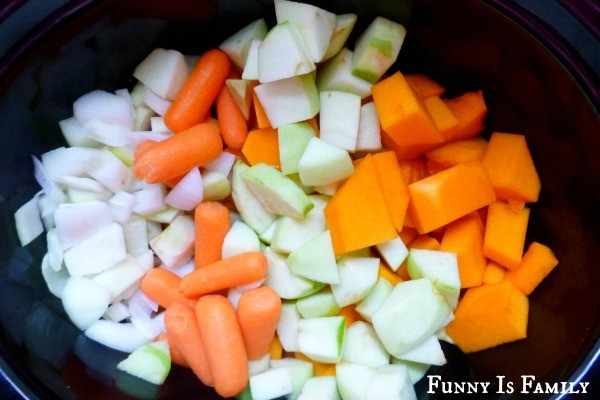 This Crockpot Butternut Squash Soup recipe combines carrots, onions, squash, and Granny Smith apples to create a wonderful fall soup!
