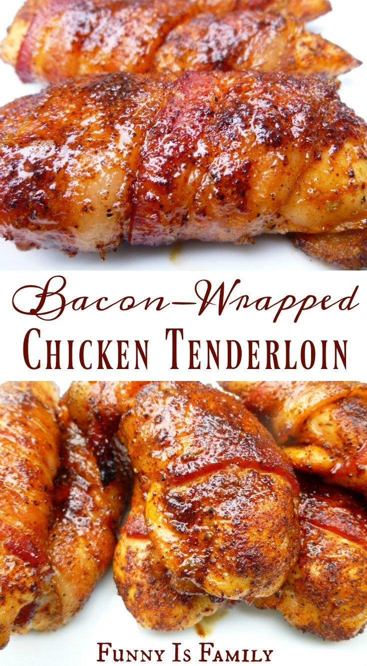 These Bacon-Wrapped Chicken Tenders are as moist and delicious as they look!