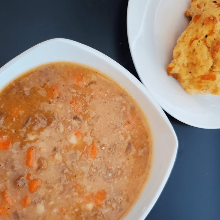 Slow Cooker Sausage and Navy Bean Soup